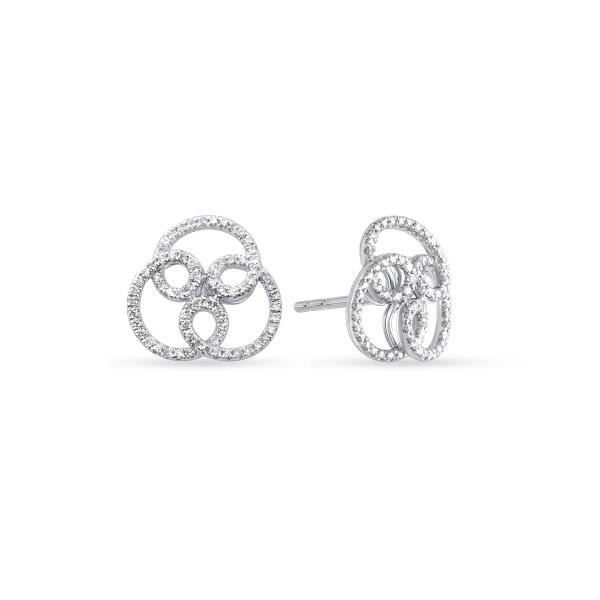 Earrings 18 Kt White Gold Diam