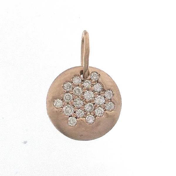 Pendant in 18 Kt rose gold with diamonds