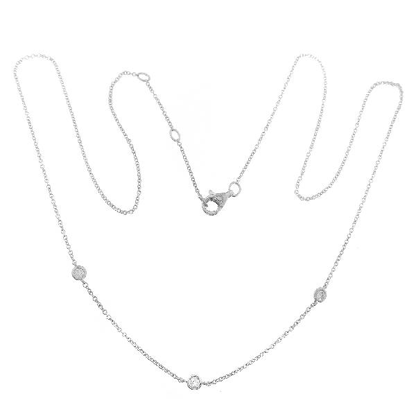 Necklace in 18 Kt White Gold & Diam