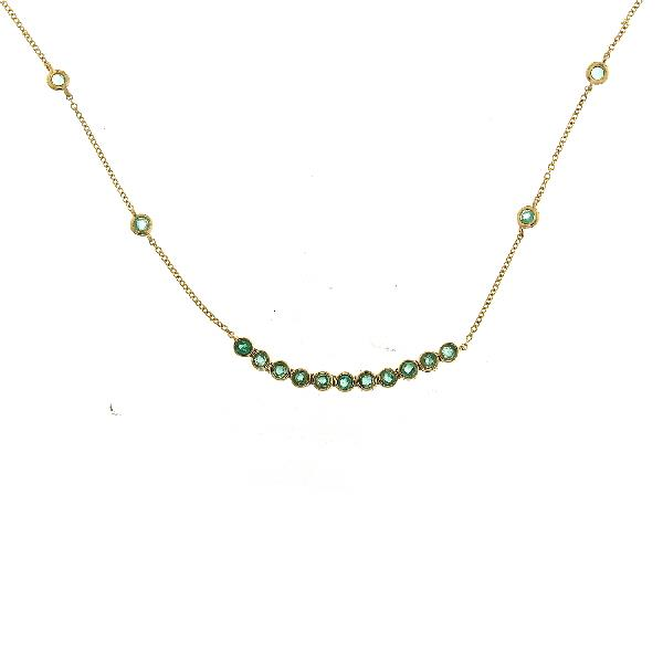 Necklace 18Kt Yellow Gold Emeralds