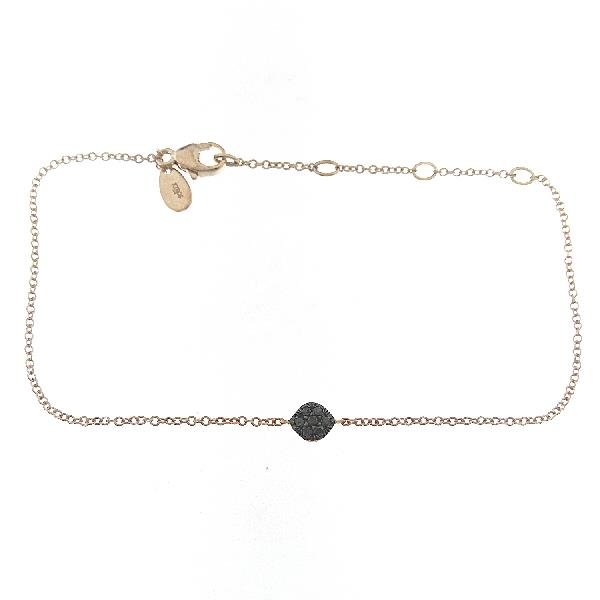 Bracelet in 18 Kt rose gold with black diamonds