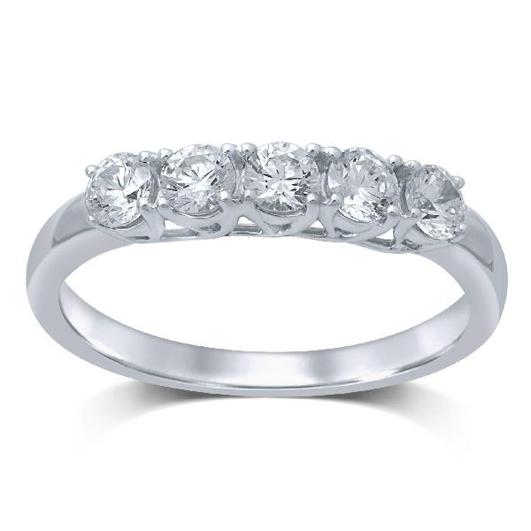 Ring in 18 Kt white gold with Diamonds