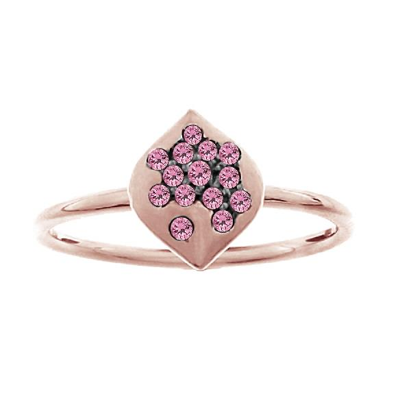 Ring in 18 Kt gold with Pink Sapphire