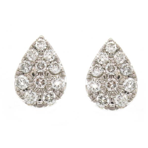 Earrings 18Kt White Gold Diamonds