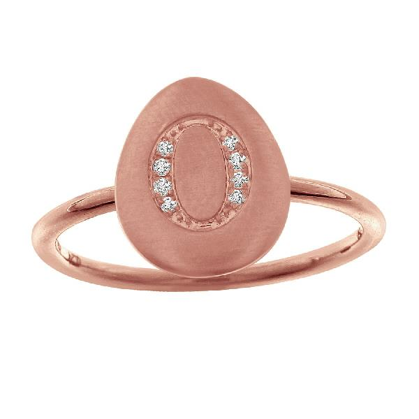 Ring 18 Kt Rose Gold Diamonds