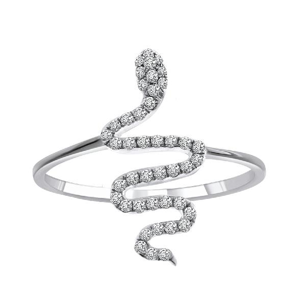 Ring 18 Kt White Gold Diamonds