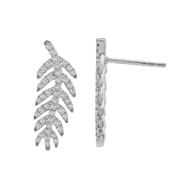 Earrings 18Kt White Gold Diamods