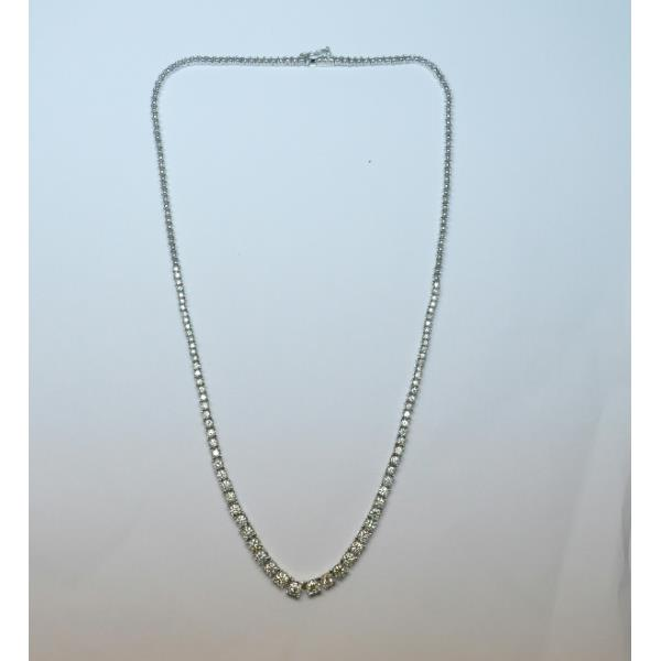 Necklace 18 Kt White Gold Diamonds