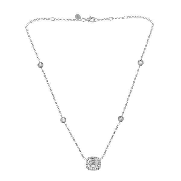 Pendant 18 Kt White Gold Diamonds