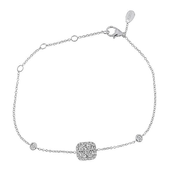 Bracelet 18 Kt White Gold Diamonds