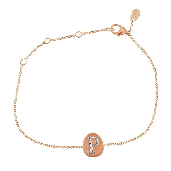 Bracelet 18 Kt Rose Gold Diamonds