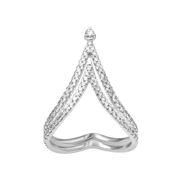 Ring in 18Kt white gold with Diamonds
