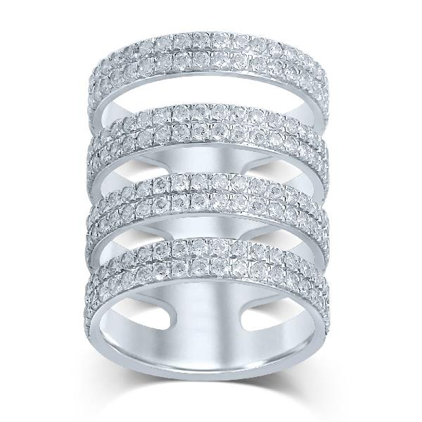 18 Kt White gold Ring Diamonds