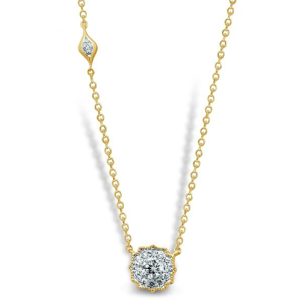 Necklace 18 Kt Yellow Gold Diamonds