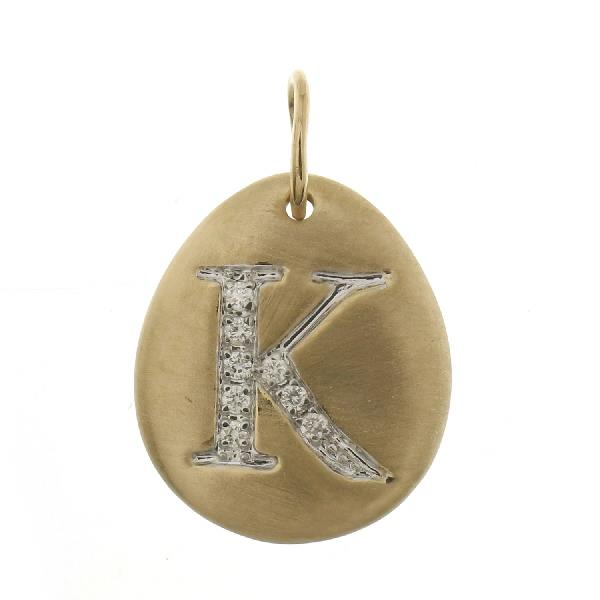 Pendant 18 Kt Yellow Gold Diamonds