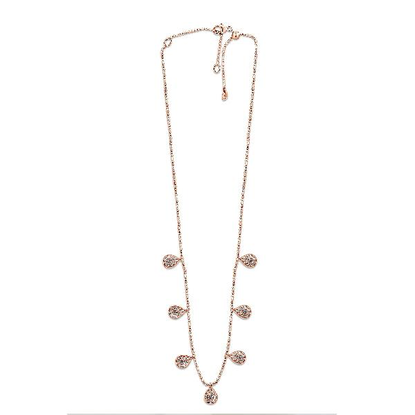 Necklace 18 Kt Rose Gold Diamonds