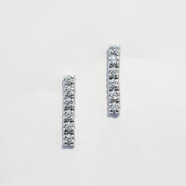 Earrings 18 Kt White Gold Diamonds