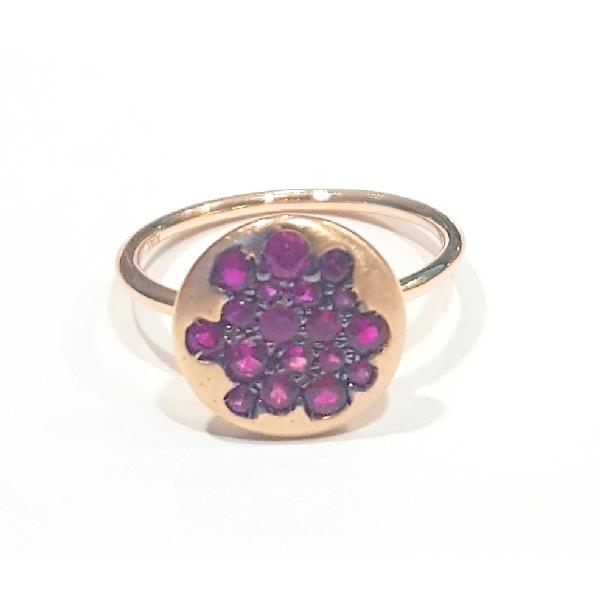 Ring 18Kt Rose Gold Rubies