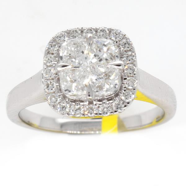 Ring in 18Kt White Gold & Diamonds