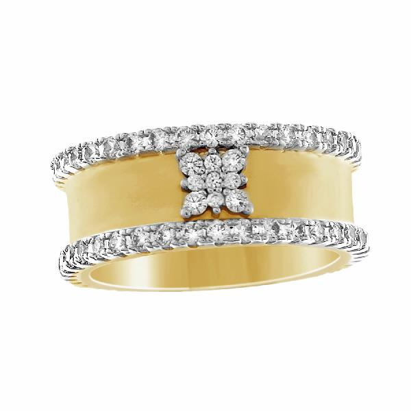 Ring 14 Kt Yellow Gold & Diamonds
