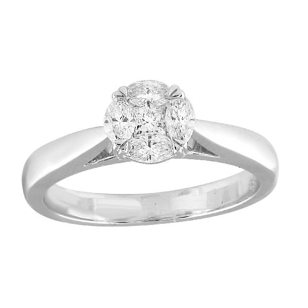 Ring 18 Kt White Gold & Diamonds