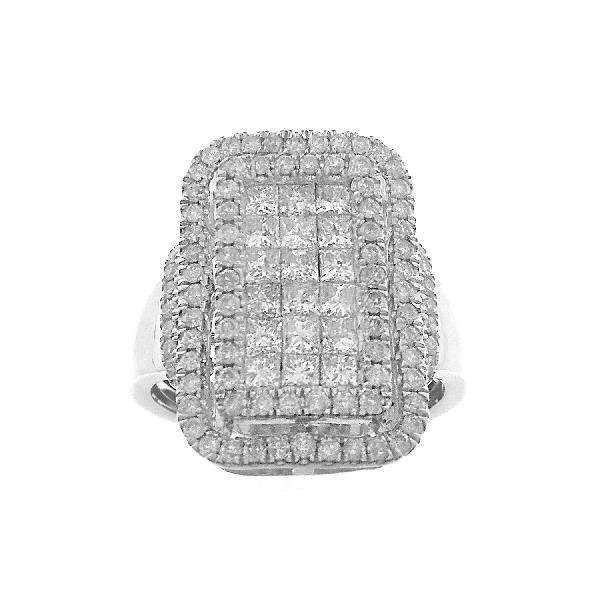 Ring 10 Kt White Gold & Diamonds