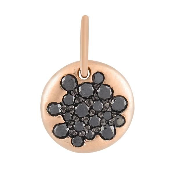 Pendant 18KT Rose Gold Black Diamond