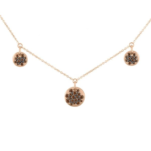 Necklace 18Kt Rose Gold Brown Diamond