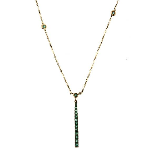 Necklace 18Kt Yellow Gold Tsavorites