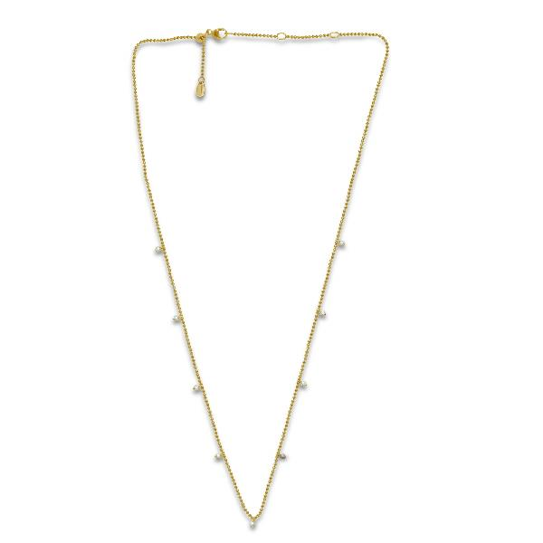 Necklace 18K Yellow Gold White Diamond