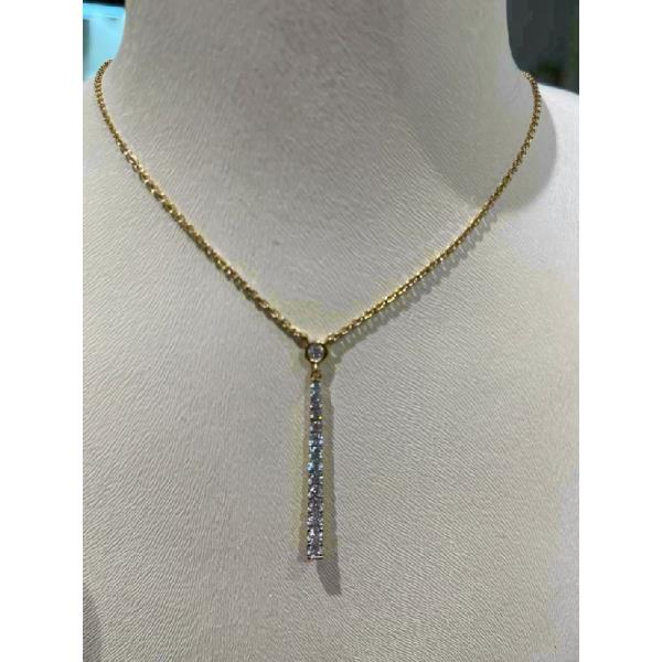 Pendant 18K Yellow Gold Diamond + Chain