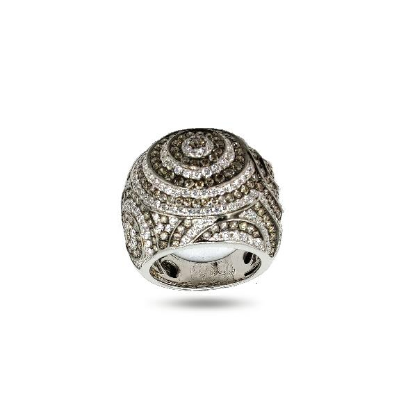 Ring 18Kt White Gold Wh&Br Diamonds
