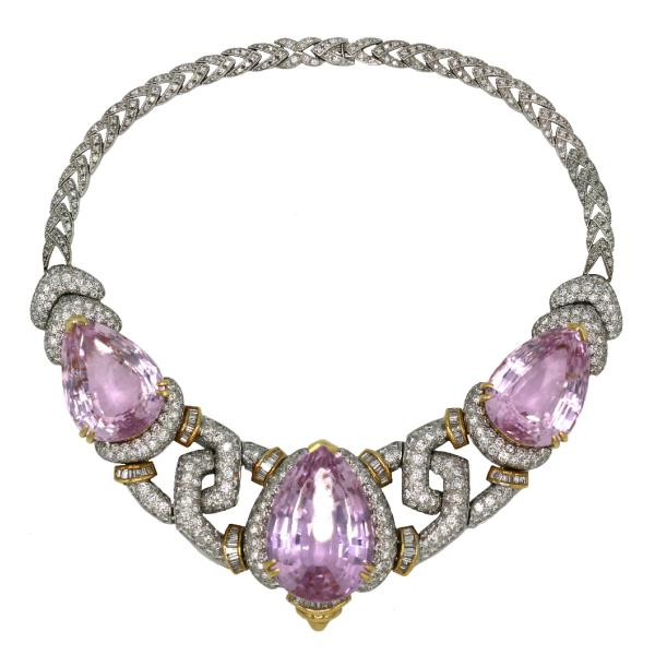 Necklace 14K WYG Diamond Kunzite