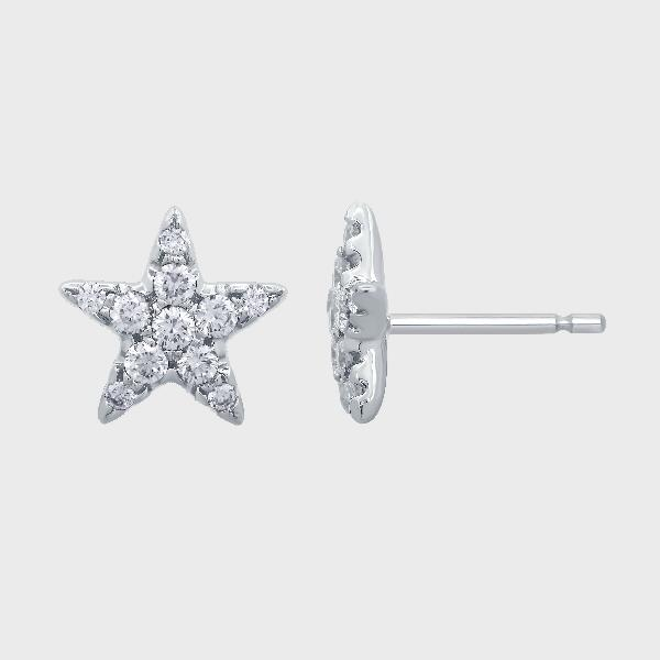 Earrings 18K White Gold Diamonds