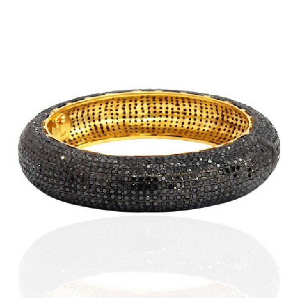 Bangles Gold 18Kt Silver Diamonds