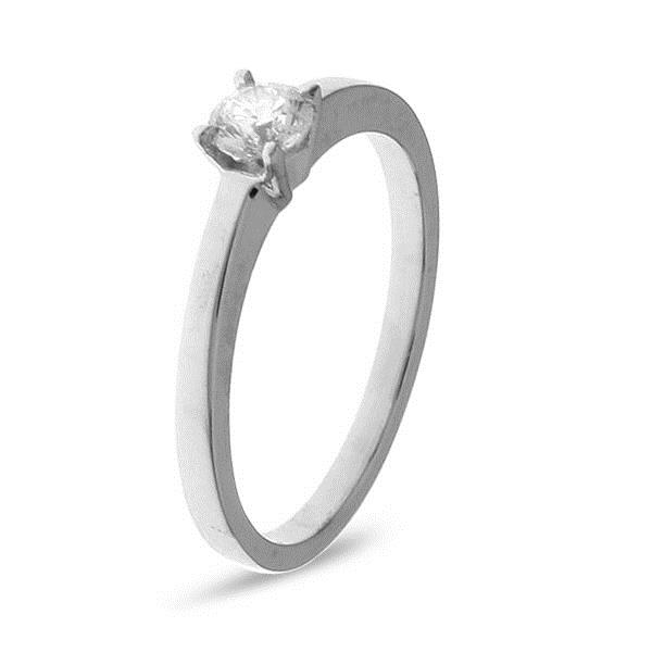 Ring White Gold 18 Kt 4 Garras