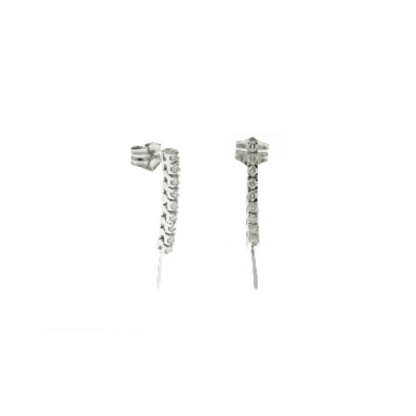 Earrings White Gold 18 Kt Diamonds