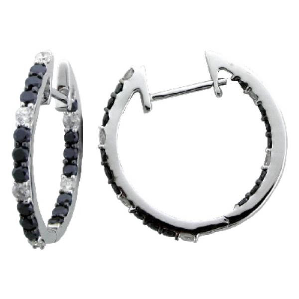 Earrings White Gold 18kt and Diamonds (Bl & Wh)