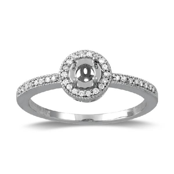 Semi Mount White Gold 18Kt Diamonds