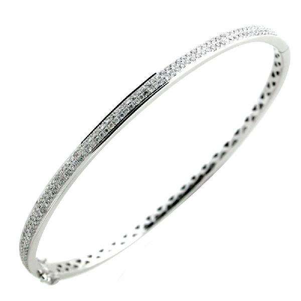 Bracelet White Gold 18Kt Diamonds blanco and negro